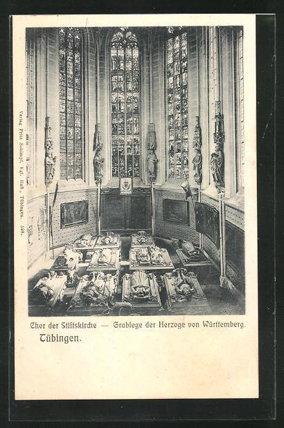 AK Tübingen, Chor der Stiftskirche, Grablege der Herzoge von Württemberg 0