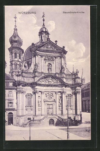 AK Würzburg, Blick auf die Neumünsterkirche 0