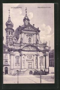 AK Würzburg, Blick auf die Neumünsterkirche