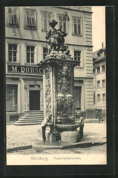 AK Würzburg, Fischmarktbrunnen 0