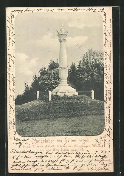 AK Leinatal, Denkmal Candelaber 0