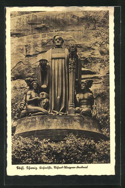 AK Lohmen, Richard-Wagner-Denkmal 0