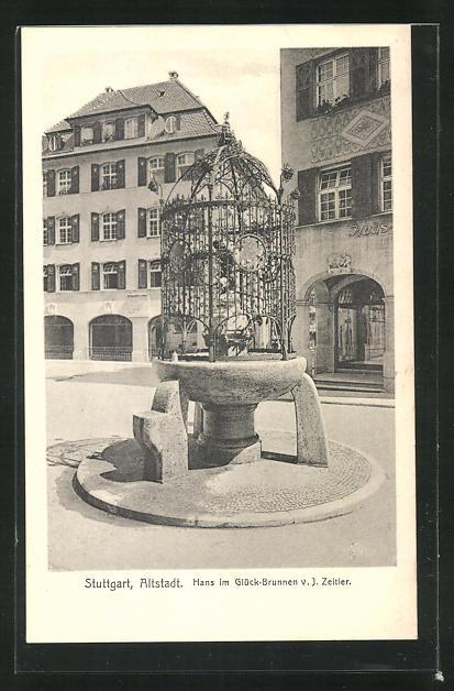 AK Stuttgart, Hans im Glück-Brunnen 0