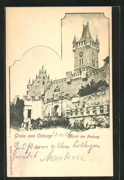 AK Coburg, Portal der Festung 0