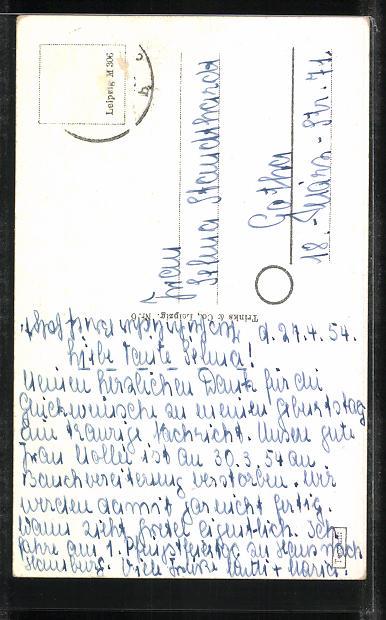AK Altenburg, Blick von der Amtsgasse auf die roten Spitzen 1
