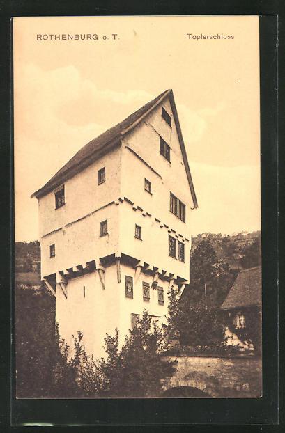 AK Rothenburg o.T., Partie am Toplerschloss 0