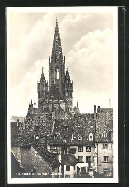 AK Freiburg i.B., Münster von der Ostseite 0