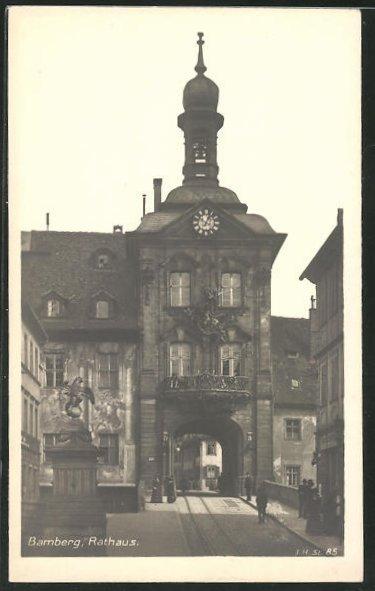 AK Bamberg, Blick zum Rathaus 0