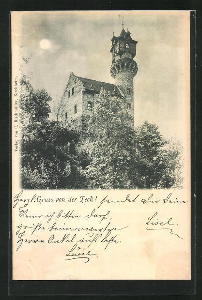 AK Kirchheim-Teck, Blick zur Burg Teck 0