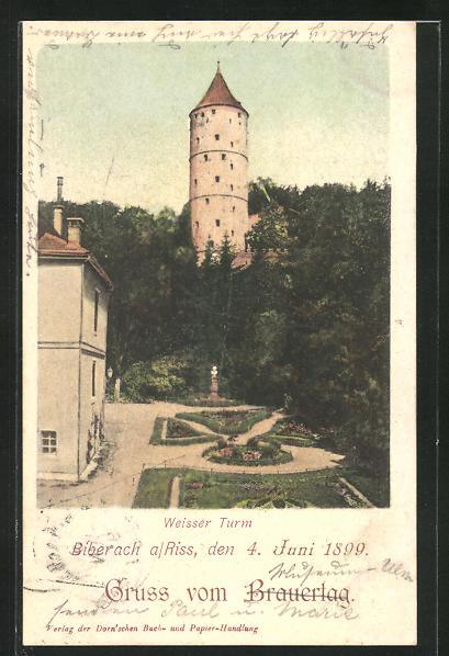 AK Biberach a. Riss, Weisser Turm 0