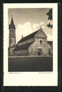 AK Schwäb. Gmünd, Blick zur St. Johanniskirche