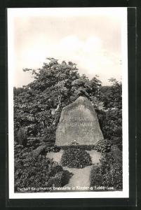 AK Kloster a. Hiddensee, Gerhart Hauptmanns Grabstätte