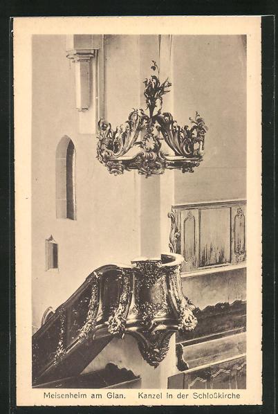 AK Meisenheim am Glan, Kanzel in der Schlosskirche 0