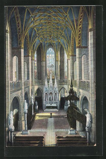 AK Wittenberg, Inneres der Schlosskirche 0