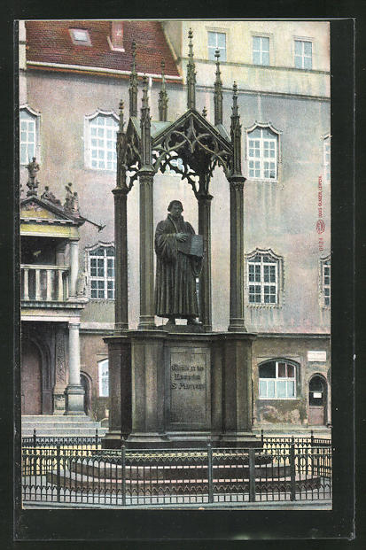 AK Wittenberg, Luther-Denkmal 0