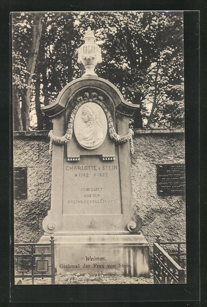 AK Weimar, Grabmal der Frau von Stein 0
