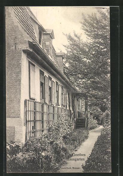 AK Weimar, Goethe-Haus, Gartenseite 0