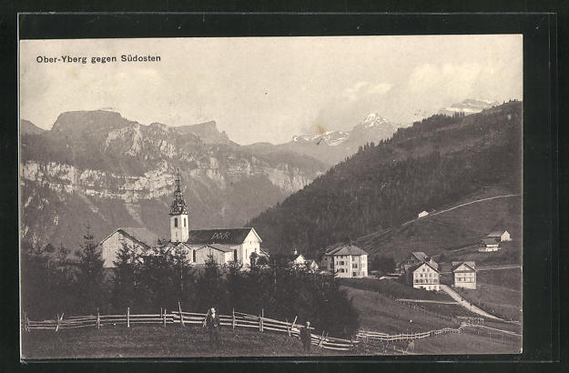 AK Oberiberg, Ortsansicht gegen Südosten 0