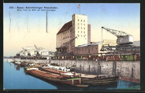 AK Basel, Kleinhüninger Rheinhafen 0