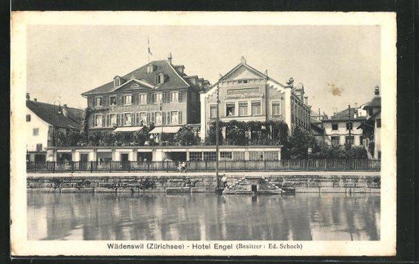 AK Wädenswil / Zürichsee, Hotel Engel 0