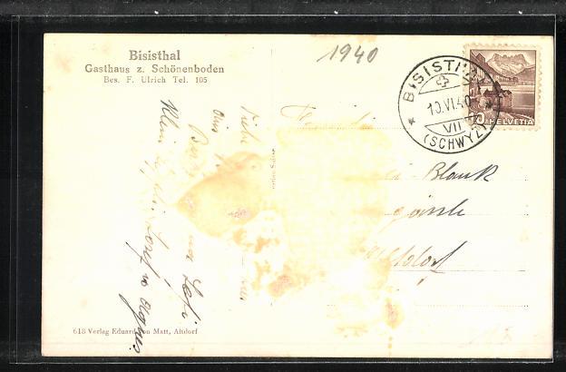 AK Bisisthal, Gasthaus z. Schönenboden 1