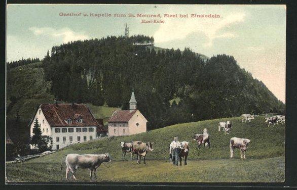 AK Etzel-Kulm, Gasthof u. Kapelle zum St. Meinrad 0