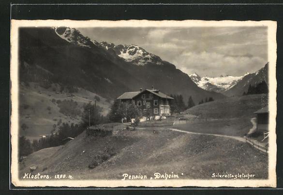 AK Klosters, Pension Villa Daheim und Silvrettagletscher 0