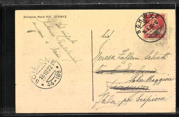 AK Schwyz, Kollegium Maria Hilf, Theatersaal, Innenansicht 1