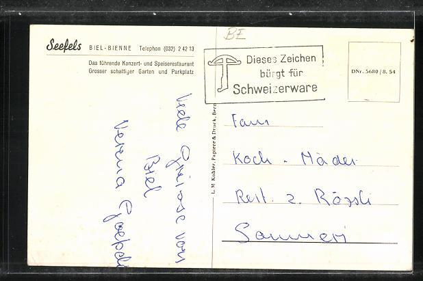 AK Biel / Bienne, Gasthaus Seefels 1