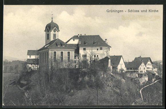 AK Grüningen, Schloss und Kirche 0