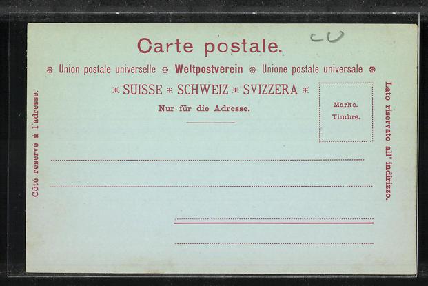Mondschein-AK Luzern, Bahnhof-Quai und Pilatus 1