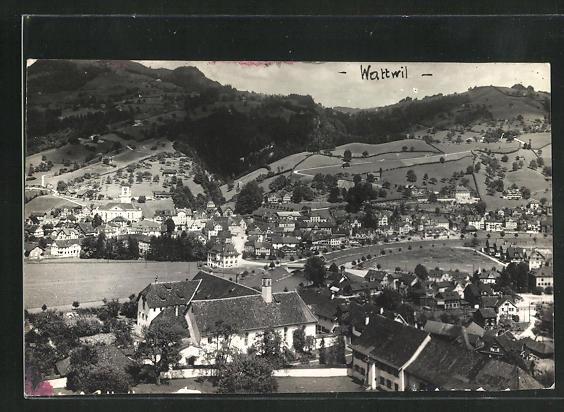 AK Wattwil, Totalansicht aus der Vogelschau 0