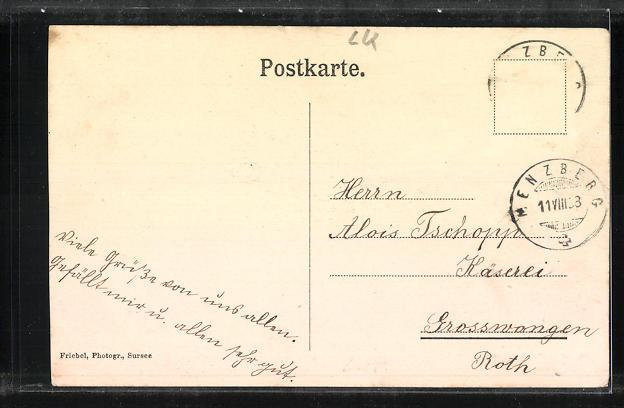 AK Menzberg, Kutschpartie auf der Alp Oberlehn 1