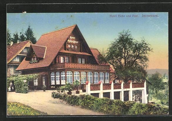 AK Immensee, Hotel Eiche und Post 0