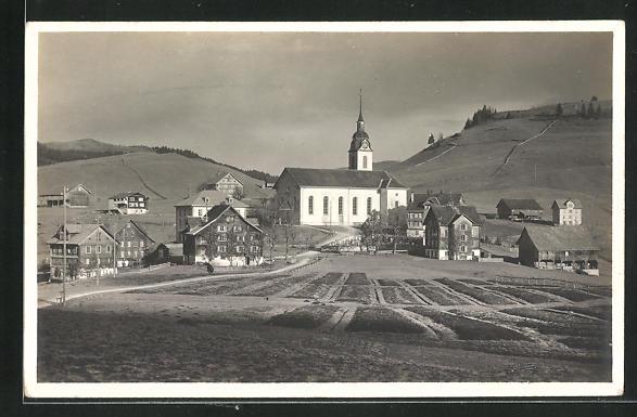 AK Oberiberg, Gesamtansicht mit Kirche 0