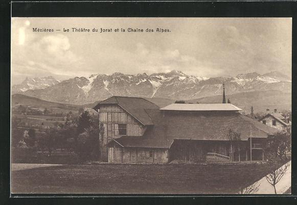 AK Mezieres, Le Theatre du Jorat et la Chaine des Alpes 0
