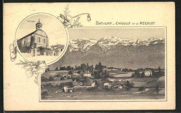 AK Satigny, Choully et le Reculet, le Temple 0
