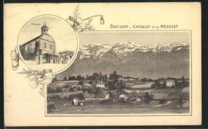 AK Satigny, Choully et le Reculet, le Temple