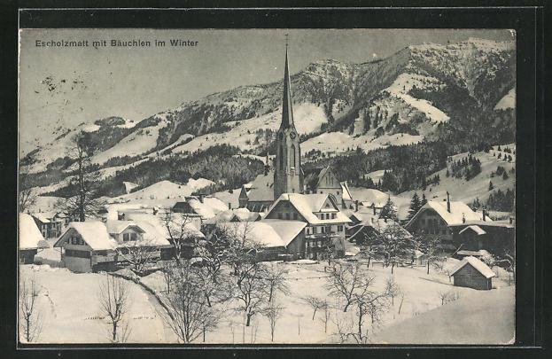 AK Escholzmatt, Winterpanorama mit Bäuchlen 0