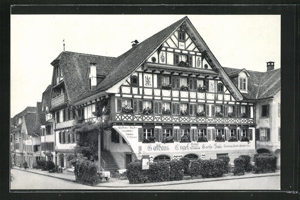AK Küssnacht a. Rigi, Gasthaus Hotel Engel mit Goethe Stube 0