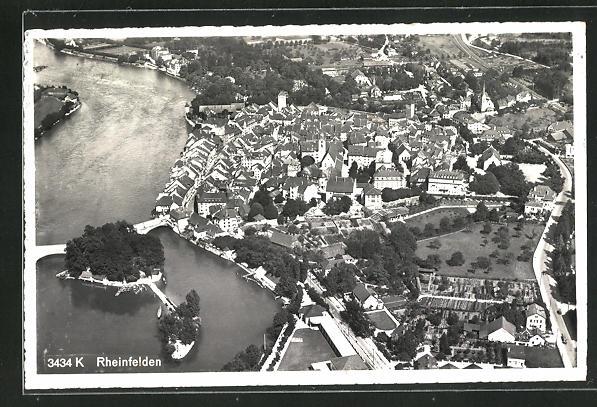 AK Rheinfelden, Panorama, Fliegeraufnahme 0