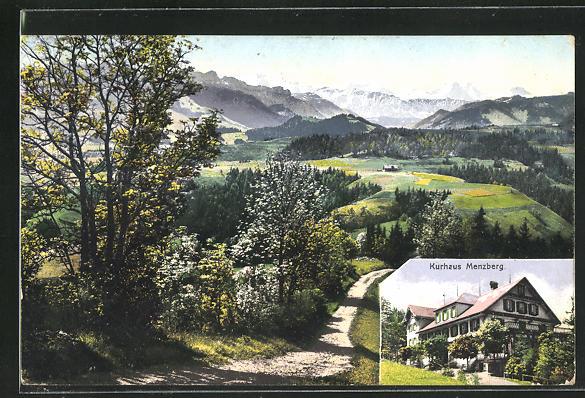 AK Menzberg, Panorama mit Kurhaus 0