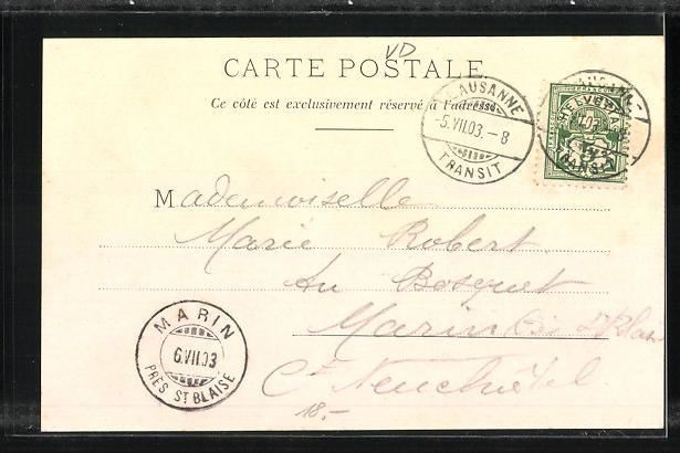 Passepartout-AK Lausanne, Festival 1903, Centenaire de l`Independance Vaudoise 1
