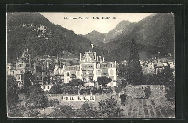 AK Montreux-Territet, Hotel Richelieu 0