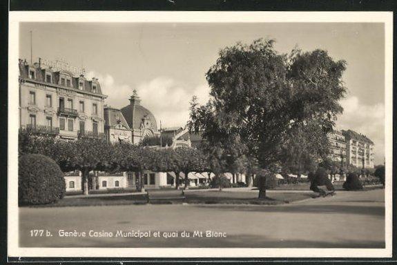 AK Geneve, Casino Municipal et quai du Mt. Blanc 0