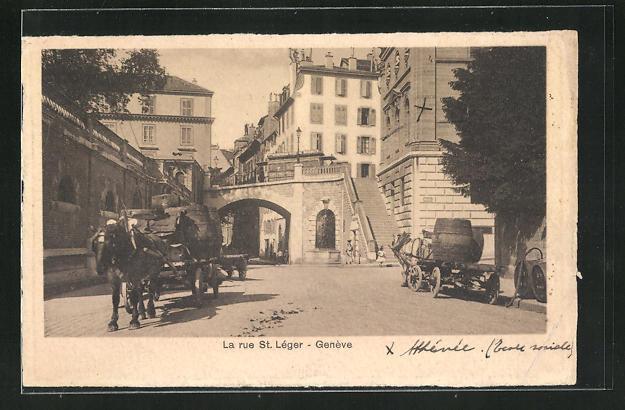 AK Geneve, La Rue St. Leger 0