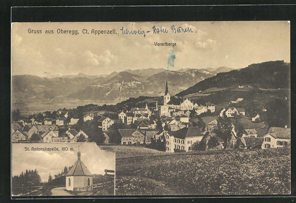 AK Oberegg, Panorama mit St. Antonskapelle & Vorarlberge 0