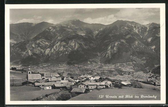 AK Urmein, Panorama mit Blick ins Domleschg 0