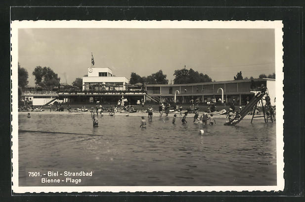 AK Biel, Strandbad, Panorama 0