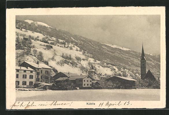 AK Küblis, Ansicht des Ortes 0